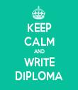 KEEP CALM AND WRITE DIPLOMA - Personalised Tea Towel: Premium