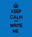 KEEP CALM AND WRITE ME  - Personalised Tea Towel: Premium