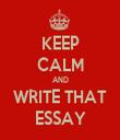 KEEP CALM AND WRITE THAT ESSAY - Personalised Tea Towel: Premium