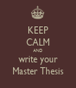 KEEP CALM AND write your Master Thesis - Personalised Tea Towel: Premium