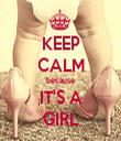 KEEP CALM because IT'S A GIRL - Personalised Tea Towel: Premium