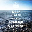 KEEP CALM BECAUSE SUMMER IS COMING - Personalised Tea Towel: Premium