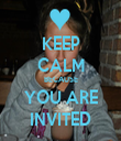 KEEP CALM BECAUSE YOU ARE INVITED - Personalised Tea Towel: Premium