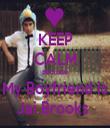 KEEP CALM Becuase My Boyfriend is Jai Brooks  - Personalised Tea Towel: Premium