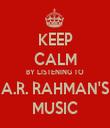 KEEP CALM BY LISTENING TO A.R. RAHMAN'S MUSIC - Personalised Tea Towel: Premium