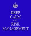 KEEP CALM CALL RISK MANAGEMENT - Personalised Tea Towel: Premium