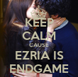 KEEP CALM CAUSE EZRIA IS ENDGAME - Personalised Tea Towel: Premium