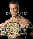 KEEP CALM CAUSE THE REAL CHAMP IS HERE!!!!!! - Personalised Tea Towel: Premium