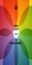 KEEP CALM 'COZ I'M AWESOMNESS  - Personalised Tea Towel: Premium