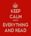 KEEP CALM DROP EVERYTHING AND READ - Personalised Tea Towel: Premium