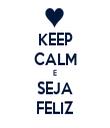KEEP CALM E SEJA FELIZ - Personalised Tea Towel: Premium
