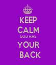 KEEP CALM GOD HAS YOUR   BACK - Personalised Tea Towel: Premium