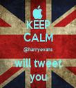 KEEP CALM @harryevans will tweet you - Personalised Tea Towel: Premium
