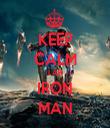 KEEP CALM I AM IRON MAN - Personalised Tea Towel: Premium
