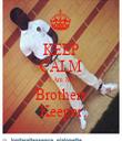 KEEP CALM I Am My Brothers Keeper - Personalised Tea Towel: Premium