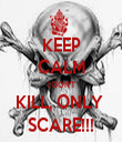 KEEP CALM I DON'T KILL, ONLY  SCARE!!! - Personalised Tea Towel: Premium