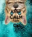 KEEP CALM I Love  Cat  - Personalised Tea Towel: Premium