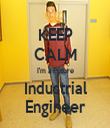 KEEP CALM I'm a Future Industrial Engineer - Personalised Tea Towel: Premium