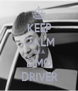 KEEP CALM I'M A LIMO DRIVER - Personalised Tea Towel: Premium