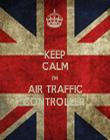 KEEP CALM I'M  AIR TRAFFIC CONTROLLER  - Personalised Tea Towel: Premium