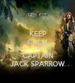 KEEP CALM I'M  CAPTAIN JACK SPARROW - Personalised Tea Towel: Premium