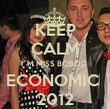 KEEP CALM I`M MISS BOBOC  ECONOMIC  2012 - Personalised Tea Towel: Premium