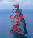 KEEP CALM I'M ABOUT  TO  ROCK - Personalised Tea Towel: Premium