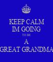 KEEP CALM IM GOING TO BE A GREAT GRANDMA - Personalised Tea Towel: Premium