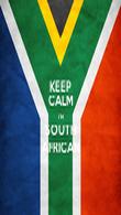 KEEP CALM I'M SOUTH AFRICAN - Personalised Tea Towel: Premium