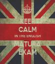 KEEP CALM IN THE ENGLISH MATURA EXAM - Personalised Tea Towel: Premium