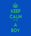 KEEP CALM IT´S A BOY - Personalised Tea Towel: Premium