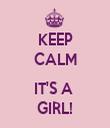 KEEP CALM  IT'S A  GIRL! - Personalised Tea Towel: Premium