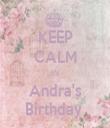 KEEP CALM It's Andra's Birthday  - Personalised Tea Towel: Premium