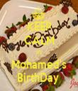 KEEP CALM It's Mohamed's BirthDay  - Personalised Tea Towel: Premium