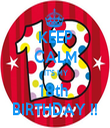 KEEP CALM  IT'S MY 18th  BIRTHDAY !! - Personalised Tea Towel: Premium