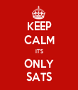 KEEP CALM IT'S ONLY SATS - Personalised Tea Towel: Premium