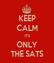 KEEP CALM IT'S ONLY THE SATS - Personalised Tea Towel: Premium