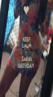 KEEP CALM It's  Sasha's BIRTHDAY  - Personalised Tea Towel: Premium