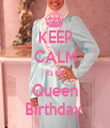 KEEP CALM It's the Queen Birthday  - Personalised Tea Towel: Premium