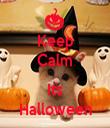 Keep Calm  Its Halloween - Personalised Tea Towel: Premium