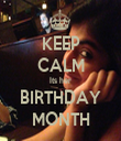 KEEP CALM Its her BIRTHDAY MONTH - Personalised Tea Towel: Premium