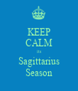 KEEP CALM its Sagittarius Season - Personalised Tea Towel: Premium