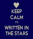 KEEP CALM IT'S WRITTEN IN THE STARS - Personalised Tea Towel: Premium