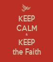 KEEP CALM & KEEP the Faith - Personalised Tea Towel: Premium