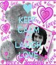 KEEP   CALM LIVE LAUGH LOVE - Personalised Tea Towel: Premium
