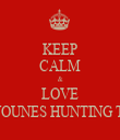 KEEP CALM & LOVE ABI YOUNES HUNTING TEAM - Personalised Tea Towel: Premium