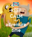KEEP CALM love adventure time - Personalised Tea Towel: Premium