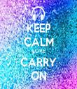 KEEP CALM LOVE CARRY ON - Personalised Tea Towel: Premium