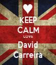 KEEP CALM LOVE David Carreira - Personalised Tea Towel: Premium