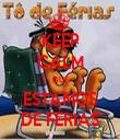 KEEP CALM QUE ESTAMOS DE FÉRIAS - Personalised Tea Towel: Premium